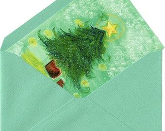 Christmas card of Art [Green envelope set]