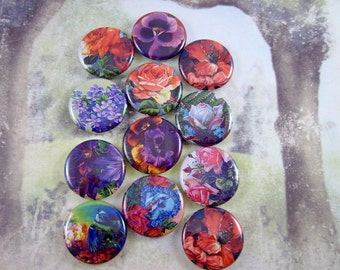 Floral Magnets Pins Garden Party Wedding Favors Party Favors Gift Sets Fridge Magnets