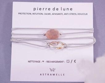 Necklace / Moonstone gluttony Charm Bracelet