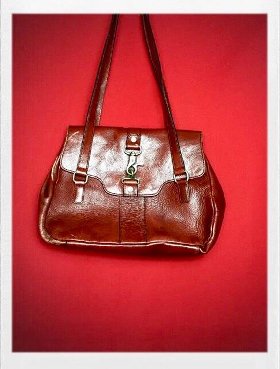 Vintage Etienne Aigner Leather Purse in Oxblood