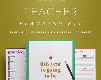 Teacher Planner PDF, Lesson Planning, Teacher Planning, Classroom Planner, Teacher Binder, Academic Calendar, Academic Planner, Teacher Gift
