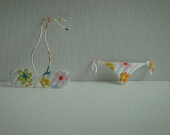 Whole swimsuit paper flowers for scrapbooking and card