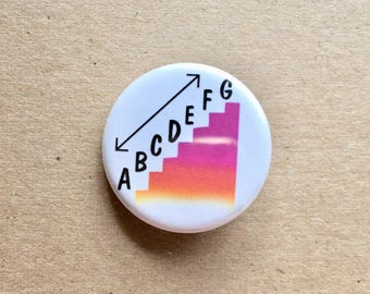 Music Alphabet Button Pins
