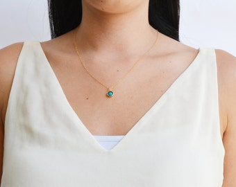 Turquoise necklace,December birthstone,gemstone,turquoise pendant,gold necklace, turquoise,gift for her,turquoise jewelry,21180