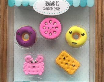 Biscuits and Donuts Eraser set