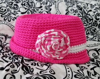 Crochet PATTERN Baby Fedora Hat Baby Hat Pattern Baby Girl's Hat Baby Boy's Hat Pattern
