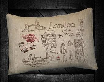 """London  12""""x16"""" Pillow Set"""