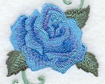 Radiant Rose Embroidered Flour Sack Hand/Dish Towel
