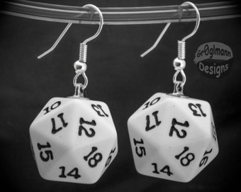 Earrings - D20 Dice Dangles