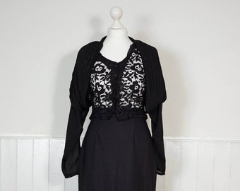 Vintage Black Lace Blouse