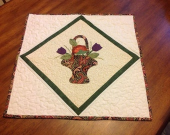 Appliqued and Quilted Wall Hanging