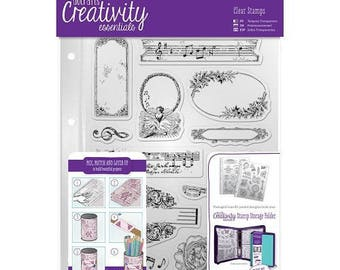 Transparent clear stamps scrapbooking DOCRAFTS music