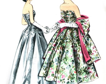McCall's 3101 sewing pattern // Misses' Evening Dress in Two Lengths and Stole