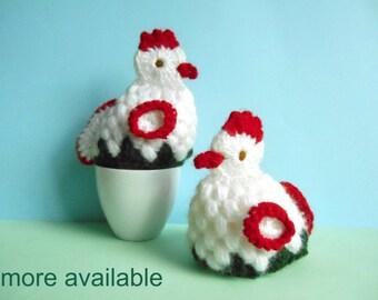 vintage pair of egg cozies / crochet / German / 1970s - 1980s