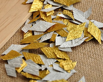Gold Confetti.  Handcrafted in 2-5 Business Days.  The Great Gatsby Party Decorations.  Wedding Table Confetti.