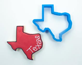 Texas Cookie Cutter | State Cookie Cutters | State Shaped Cookie Cutters | USA Cookie Cutters | 3D Cookie Cutters