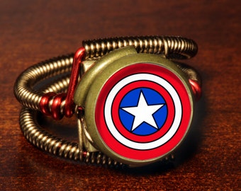 Steampunk Jewelry - Ring - Captain America