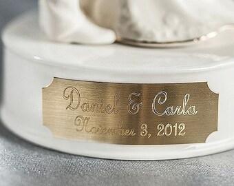 Engraveable Custom Porcelain Wedding Cake Topper Base - 10504122