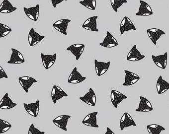 Wee Gallery - Adventure Awaits - Fox Heads Shadow - Dear Stella Fabrics - Fabric By the Half Yard