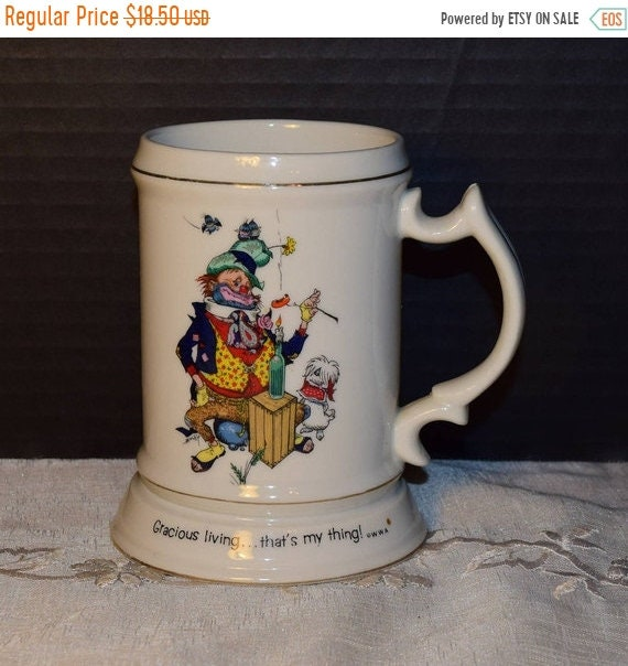 Delayed Shipping Happy Hoboes Mug Vintage Hobo Stein Gracious Living That's My Thing Hobo & Dog Tankard World Wide Arts Made in Japan Collec