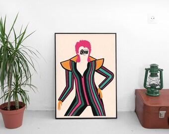 David Bowie   digital print   50 x70
