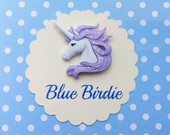 Unicorn brooch unicorn jewelry unicorn purple glitter mane unicorn jewellery unicorn gift mythical creatures purple unicorn unicorn gift