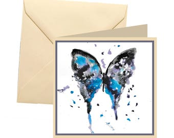 Butterfly greetings card, blank card, greetings card, birthday card, butterfly card, butterfly birthday, note card, thank you card