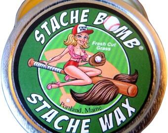 Fresh Cut Grass Stache Bomb Stache Wax--- Moustache Wax From Maine