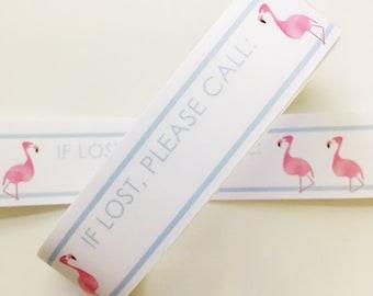 Verkauf: Leere Vinyl Flamingo-ID Armbänder - #Kids #Travel #Safety #Medical - Set von 14