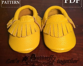 Baby Moccasins Sewing Pattern Easy and Simple Steps PDF Tutorial Instant Download