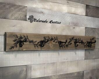 Coat Rack, Rustic Coat Rack, Entryway Coat Rack, Cast Iron Coat Hooks, Mudroom Coat Rack, Entryway Decor, Rustic Wall Decor, Coat Hooks