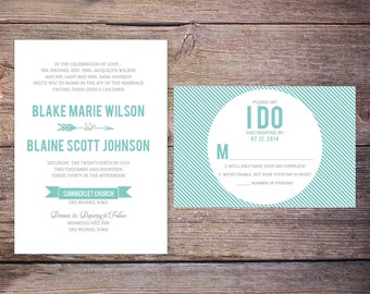 Printable Wedding Invitation Suite - the Blake Collection