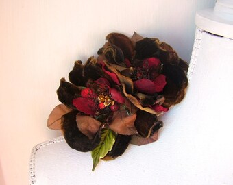 Winter Blooms - Hairclip - OOAK - Ready to ship xx