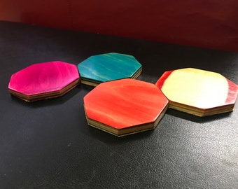 Cork backed Coasters made from Recycled skateboards (Set of 4)