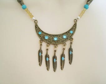 Turquoise Necklace, bohemian jewelry boho jewelry turquoise jewelry hippie jewelry hipster gypsy necklace hippie necklace boho necklace