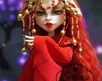 OOAK Monster High Doll Viperine Gorgon/ Repaint & Costume