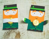 St. Patrick's Day Candy Huggers Party printable leprechaun cute classroom favors single gold candy holder gift for friends or party favors