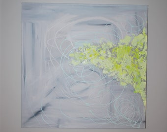 """Abstract painting """"Forsythia"""""""