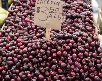 Photo Prints - Cherries, Fruite Photos, Kitchen Photos, Farmers Market