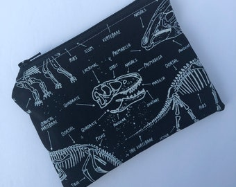 Dinosaur Snack Bag - Zippered Snack Bag - Kids Snack Bag - Lunch Pouch - Snack Sack - Lunch Bag