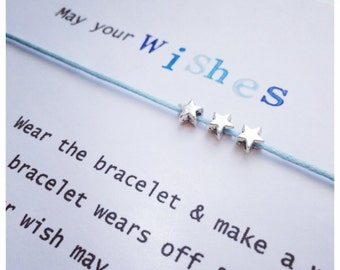 Wishing Bracelet 'May your wishes come true' Wish Bracelet Gift
