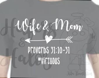 Hashtag Virtuous - Wife and Mom, Proverbs 31:10-31 - Great for Mother's Day Gifts
