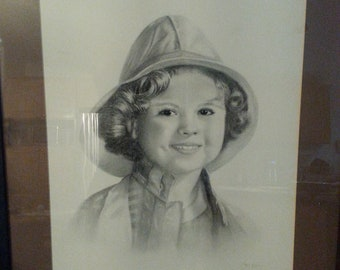 Shirley Temple Pencil Sketch