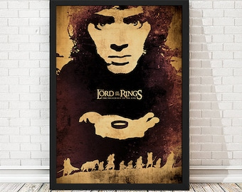 The Lord of the Rings The Fellowship of the Ring Movie Poster, LOTR Poster, LOTR Print, Minimalist Poster