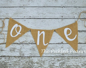 Burlap Birthday Banner Burlap Banner Name Banner Burlap Bunting Burlap Garland Happy Birthday Highchair Banner Nursery Banner
