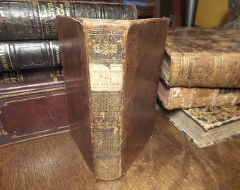 Explanation of The Early Truths of Religion Antique 1827 French  Religious book. Antique prayer book. Religious book.