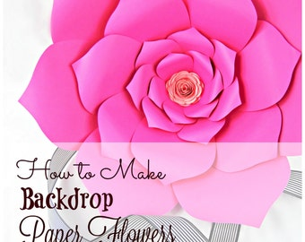 Giant Paper Flowers, Pattern Templates & Tutorials, Large Paper Flowers, Flower Wall, Backdrop Flowers