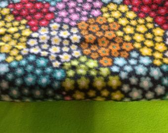 Throw Blanket Kit Colorful Flowers