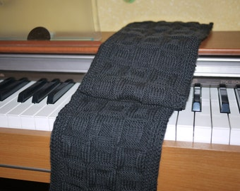 Hand knitted scarf for man. Knit man scarf.