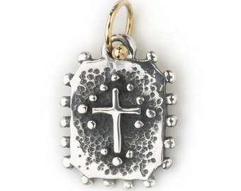 Santa Fe Cross sterling silver and 18k pendant  only